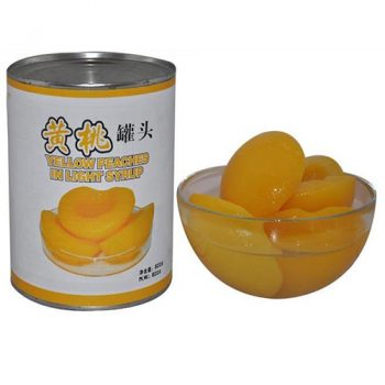 425g Canned Yellow Peaches in Halves in Light Syrup