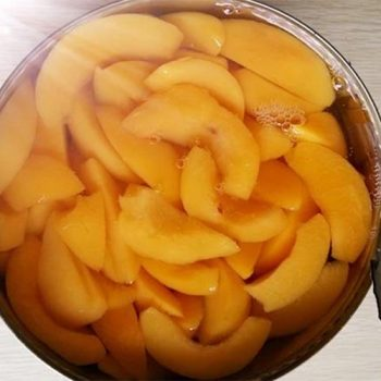 Canned Yellow Peaches 4000g in Slices in Light Syrup