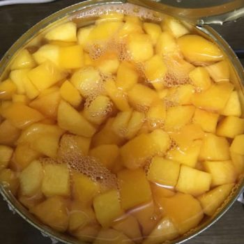 Canned Yellow Peaches 4000g in Diced in Light Syrup