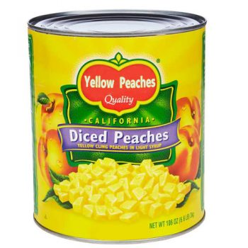 Canned Yellow Peaches 3000g in Diced in Light Syrup