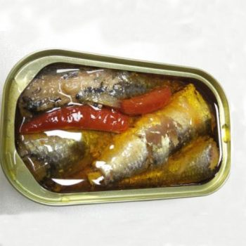 Best in Tin Canned Sardine Fish with Vegetable Oil Chili
