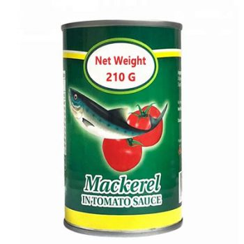 Seafood High Quality 210g Canned Mackerel  in Tomato Sauce